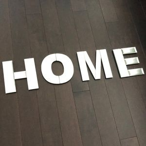 HOME Mirrored Letter Sign